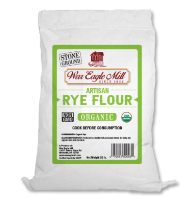 organic artisan rye flour bag