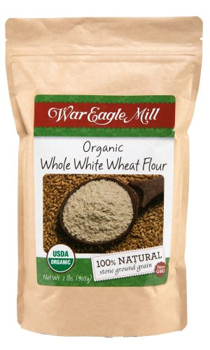 organic whole white wheat flour