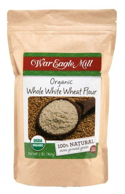 organic whole white wheat flour