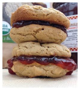 PB&J Oatmeal Cookie Sandwich