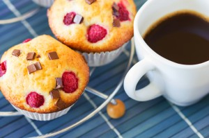 Raspberry Chocolate Chunk Muffins