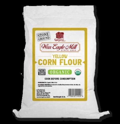 Organic Yellow Corn Flour - 25 lb. bag
