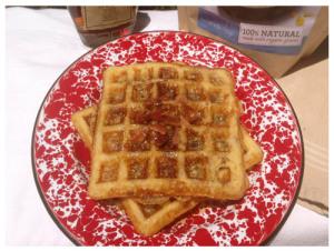 Bacon Cornmeal Waffles