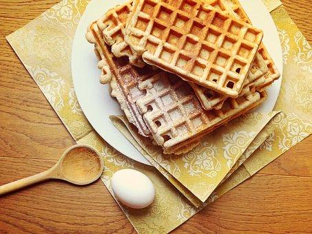 Flaxy Breakfast Waffles