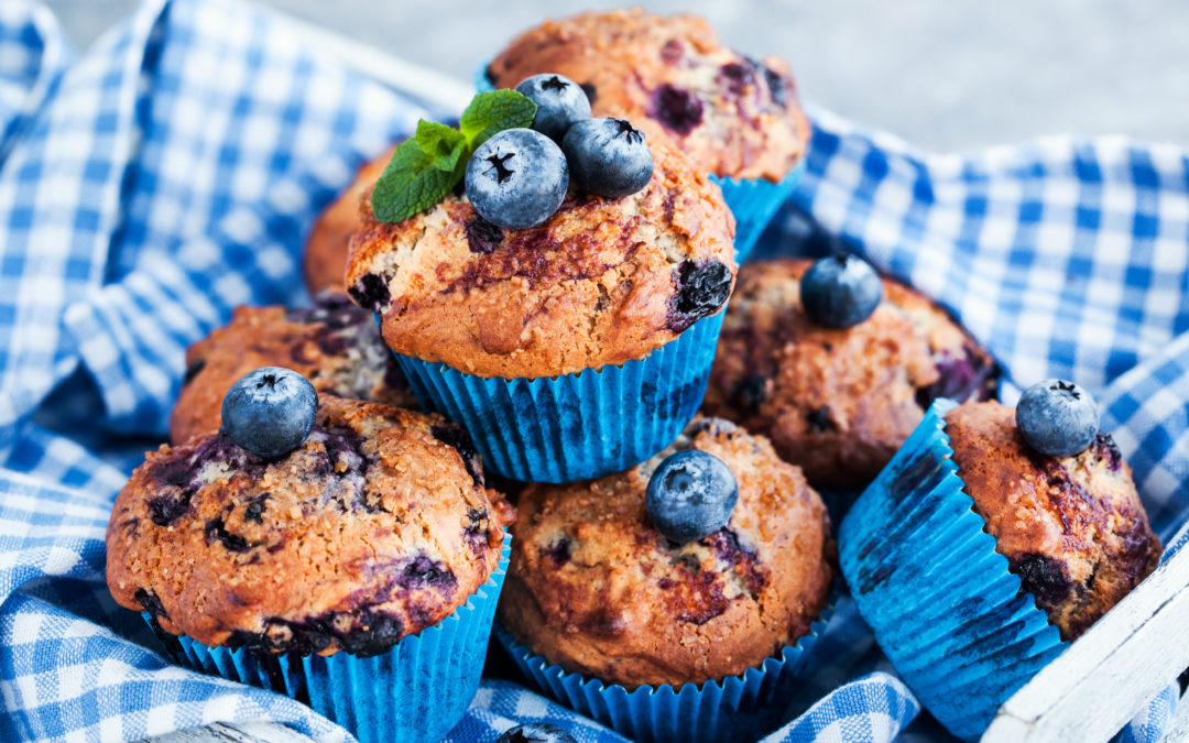 Blueberry Flaxseed Muffins