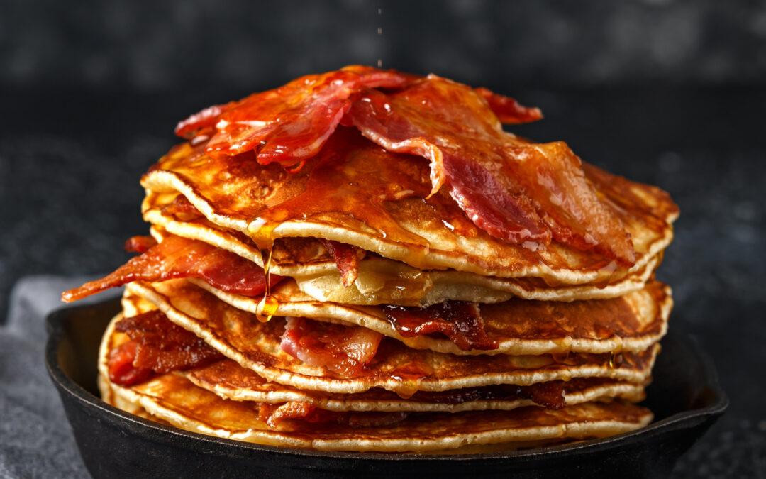 Savory Bacon & Cheese Pancakes