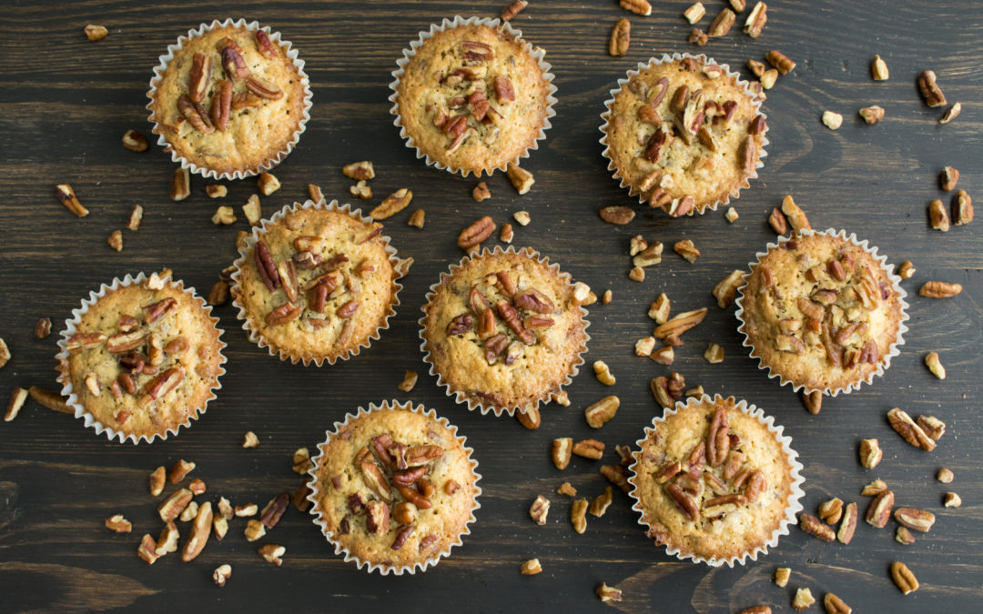 Toasted Pecan Ginger Muffins