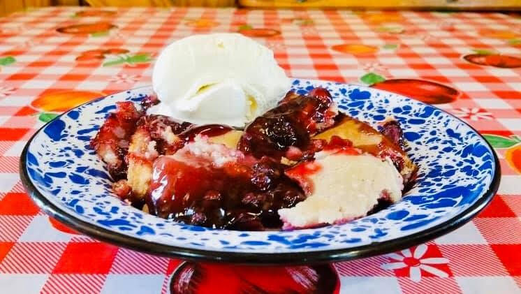The Bean Palace Blackberry Cobbler