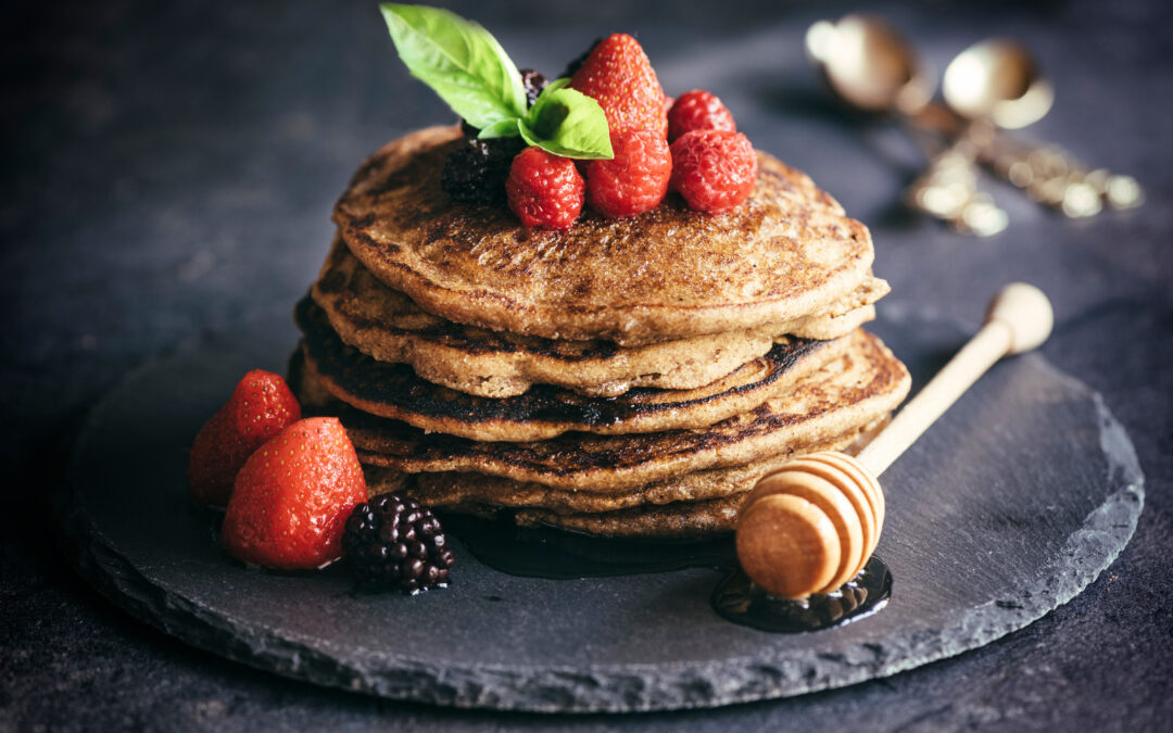 Buttermilk Flax Seed Pancakes