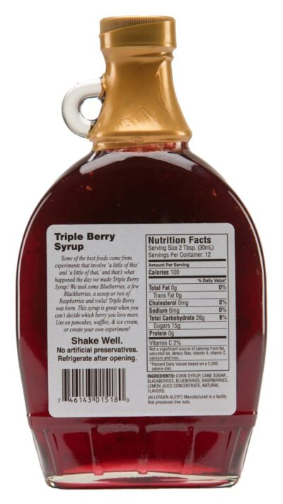 triple berry syrup label