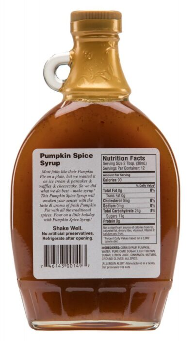 pumpkin spice syrup label