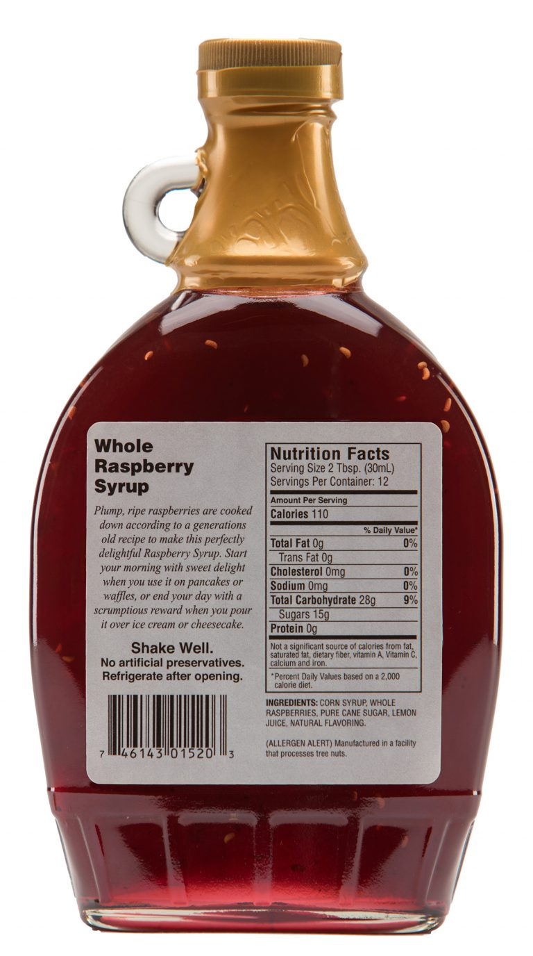 whole raspberry syrup label