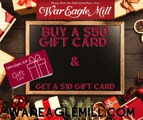 War Eagle Mill Gift Card Special deal