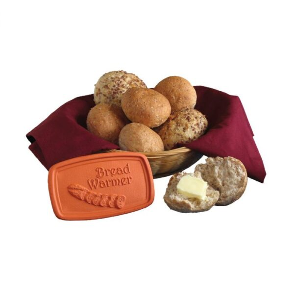 bread warmer and basket of rolls