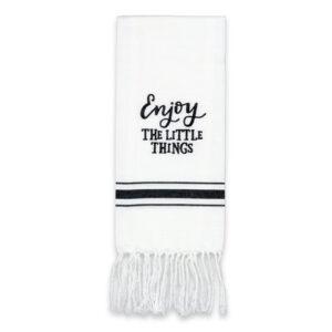 Enjoy the Little Things Artisan Home Towel