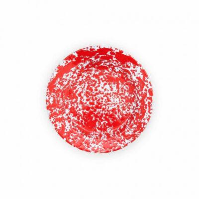 enamel ware red plate
