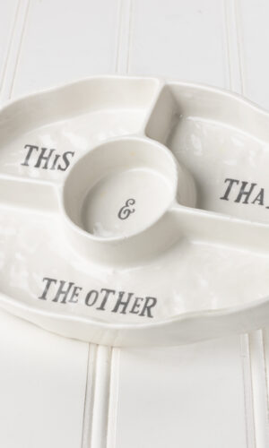 This, That, The Other Divided Serving Platter